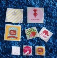 Stickers, rond, vierkant of ovaal, bij Kers op de Taart